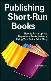 Cover of: Publishing short-run books by