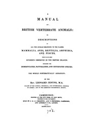 Cover of: A manual of British vertebrate animals: Or Descriptions of All the Animals Belonging to the ... |