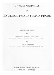 Cover of: Twelve centuries of English poetry and prose | Alphonso Gerald Newcomer