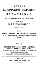 Cover of: Corpus scriptorum historiae byzantinae by Niebuhr, Barthold Georg