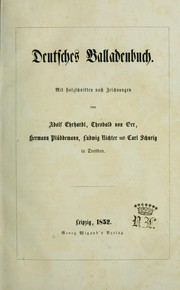 Cover of: Deutsches Balladenbuch | Adolf Ehrhardt
