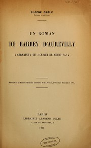 Cover of: Un roman de Barbey d'Aurevilly | J. Barbey d'Aurevilly