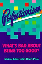 Cover of: Perfectionism