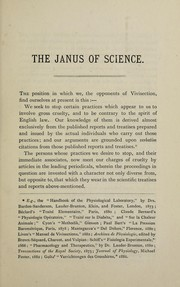 Cover of: The Janus of science