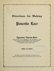 Cover of: Directions for making Poncetto lace