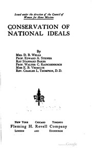 Cover of: Conservation of national ideals