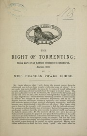 Cover of: The right of tormenting