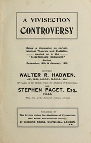 Cover of: A vivisection controversy