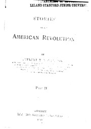 Cover of: Stories of the American revolution | Everett T. Tomlinson