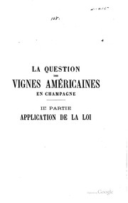 Cover of: La question des vignes américaines en Champagne by G. Vimont