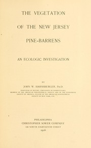 Cover of: The vegetation of the New Jersey pine-barrens | Harshberger, John William