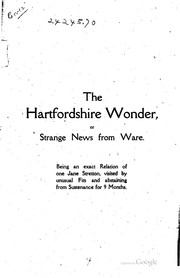 Cover of: The Hartfordshire wonder |