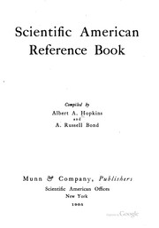 Cover of: Scientific American Reference Book | Albert Allis Hopkins , Alexander Russell Bond