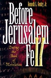 Cover of: Before Jerusalem Fell | Kenneth L. Gentry, Jr.