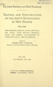 Cover of: The Jesuit relations and allied documents | Jesuits.