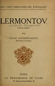 Cover of: Lermontov (1814-1841)