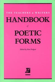 Cover of: Handbook of Poetic Forms