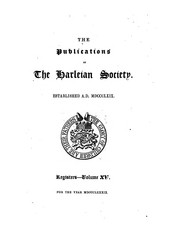 Cover of: The publications of the Harleian society | Harleian society, London