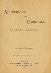 Cover of: Masquerade and carnival by [Wandle, Jennie Taylor] Mrs.