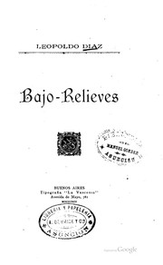 Cover of: Bajo-relieves | Leopoldo Díaz
