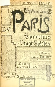 Cover of: Les monuments de Paris souvenirs de Vingt Si©Łecles by Hippolyte Bazin