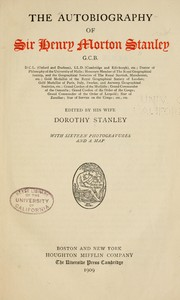 Cover of: The autobiography of Sir Henry Morton Stanley | Henry M. Stanley