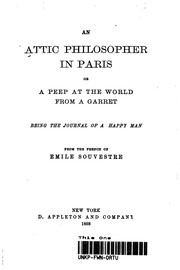 Cover of: An Attic Philosopher In Paris | Emile Souvestre