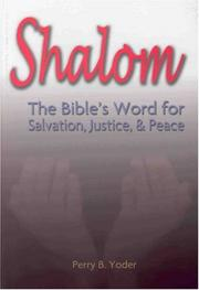 Cover of: Shalom | Perry B. Yoder