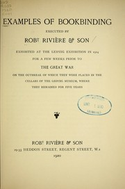 Cover of: Examples of bookbinding executed by Robt. Rivière & Son