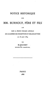 Cover of: Notice historique sur MM. Burnouf | J. Naudet