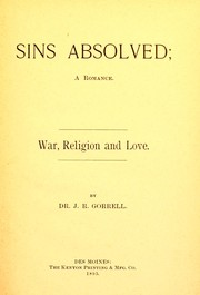 Cover of: Sins absolved | Joseph R. Gorrell