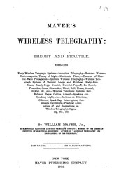 Cover of: Maver's Wireless Telegraphy: Theory and Practice by William Maver
