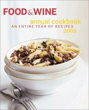 Food & Wine Annual Cookbook 2003