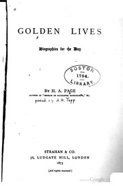 Cover of: Golden lives, biographies for the day | Alexander Hay Japp