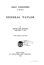 Cover of: General Taylor | Oliver Otis Howard