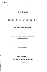 Cover of: Rural Sketches by Thomas Miller