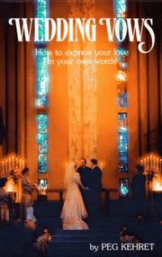 Cover of: Wedding vows: how to express your love in your own words