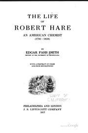 Cover of: The life of Robert Hare | Edgar Fahs Smith