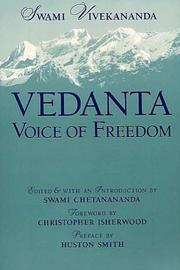 Cover of: Vedanta