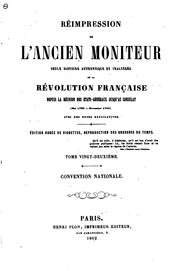 Cover of: Réimpression de l'ancien Moniteur | Le Moniteur universel