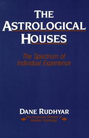 Cover of: The astrological houses