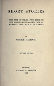 Cover of: Short stories | George Meredith
