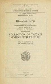 Cover of: Regulations No. 56 | United States. Internal Revenue Service.