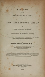Cover of: Synopsis of the organic remains of the Cretaceous group of the United States