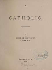 Cover of: A catholic