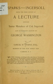Cover of: Sparks versus Ingersoll
