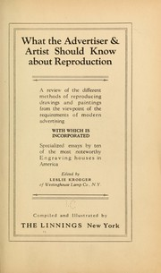 Cover of: What the advertiser & artist should know about reproduction