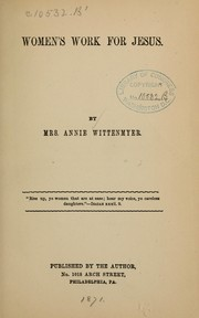 Cover of: Women's work for Jesus