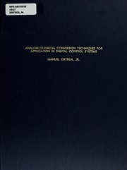 Cover of: Analog-to-digital conversion techniques for application in digital control systems