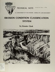 Cover of: Erosion condition classification system
